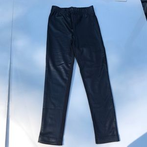 3 Pommes Girl Leggings Leather and Cotton